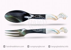 Salad spoon fork horn (116)