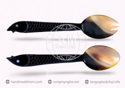 Salad spoon fork horn (59)