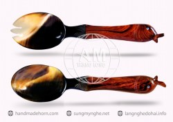 Salad spoon fork horn (65)