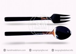 Salad spoon fork horn a (162)