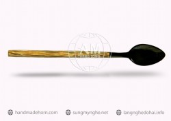 Salad spoon fork horn a (177)